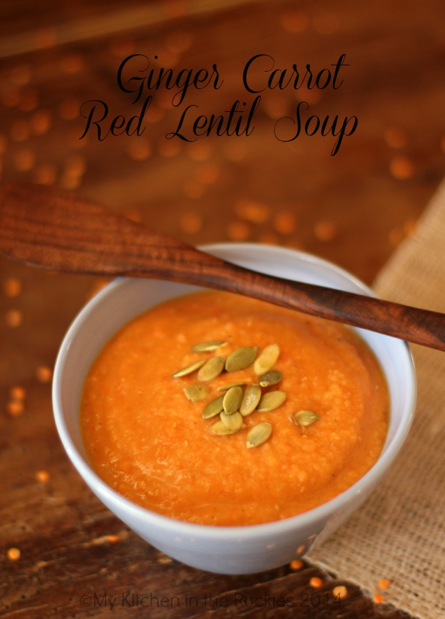 029 a blog Ginger Carrot Red Lentil Soup