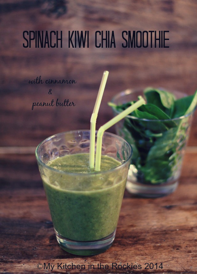 Spinach Kiwi Chia Smoothie.