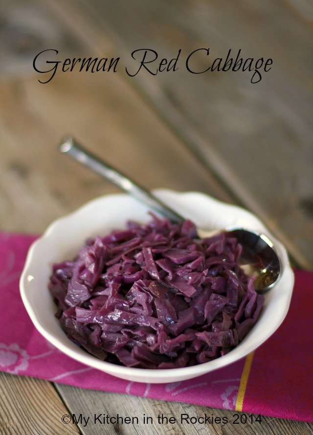 By Kirsten | My Kitchen in the Rockies #German #recipe #red cabbage