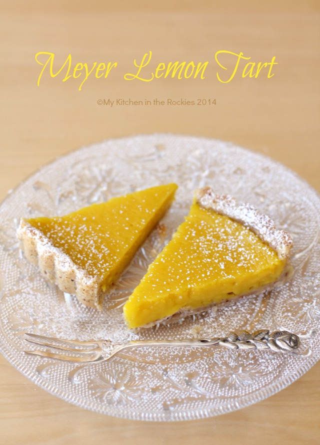 Meyer Lemon Hazelnut Tart by My Kitchen in the Rockies Colorado Denver ...