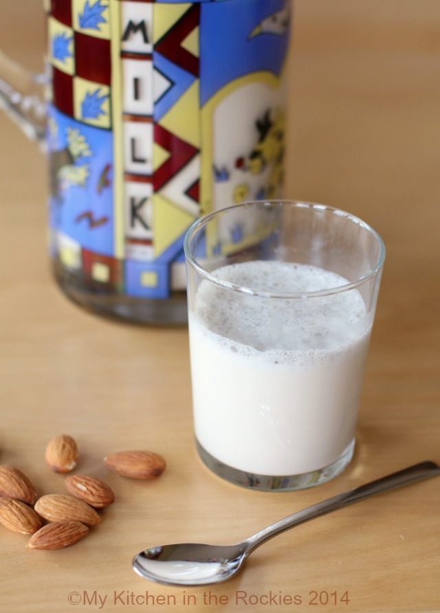 wait as long as I did to make your own homemade vanilla almond milk ...