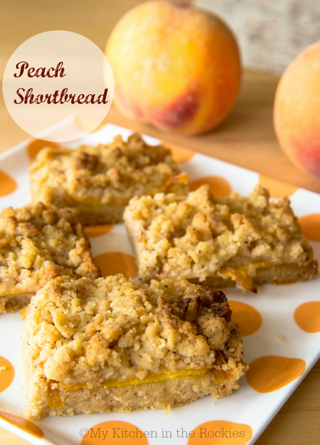 Peach Brown Butter Shortbread